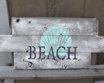 Rustic BEACH Recycled Wood Wall Decor, Rustic Wall Decor, Repurposed, Tropical, Lake House, Unique, Nautical