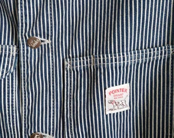 Sale Vintage Pointer Brand hickory stripe chore coat mens Made In USA