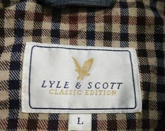 Rare Vintage Lyle And Scott Classic Edition Zipper Jacket Size L