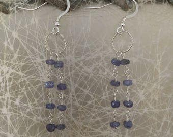 Tanzanite and Sterling Silver Earrings - Free U.S. Shipping