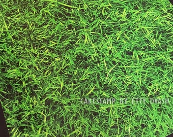 Sticker Placemat - 5 peaces  grass background