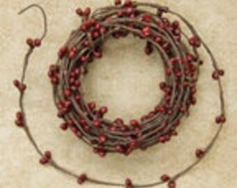 Burgundy OR  Red  Pip String Garland, 18 ft.
