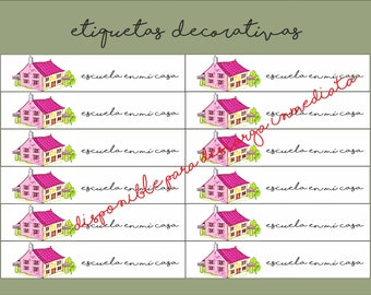 Stationery for homeschool - decorative labels