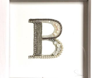 Custom Letters - wall hanging, decorative arts, jewellery art, upcycled jewellery