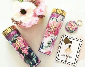 floral tumbler