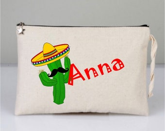 Bridal Bags, Personalized Bags, Bridesmaid Proposal Gift, Bridesmaid Bags, Maid of Honor Bag, Makeup Bag, Bridal Shower Gifts, Cactus Bag