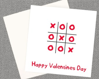 Valentine's Greeting Card, Knots & Crosses Card