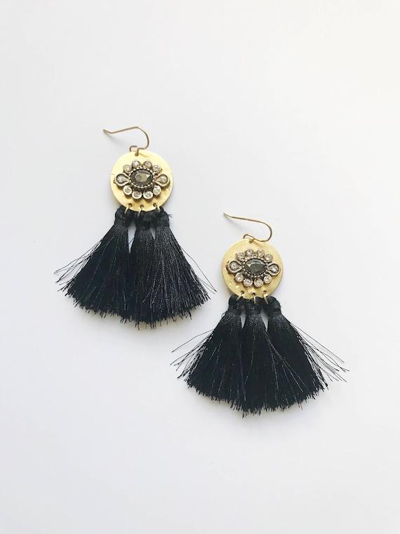 Sparkle Tassel Drop Earrings