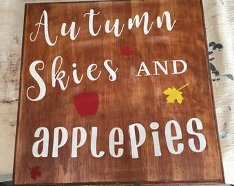 Autumn Apple Pie Sign