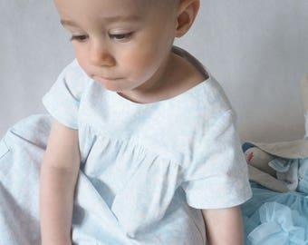 Cotton baby dress, BLUE MEADOW