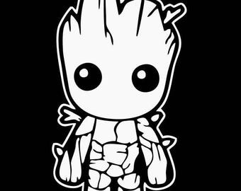BABY GROOT Guardians of the Galaxy Decal wall art
