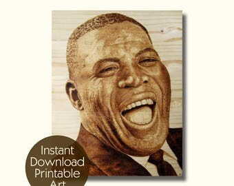 Howlin' Wolf pyrography wood burning art instant download printable art digital files