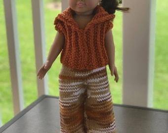 American Girl Sweater, Pants,  Headband, & Mary Jane Shoes