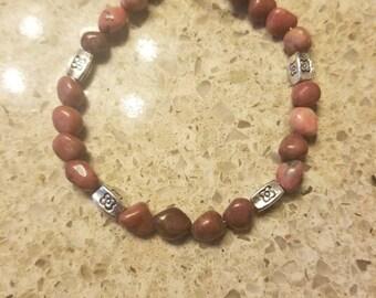 Rhodonite gemstone bracelet