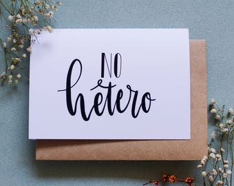 No Hetero - Queer Greeting Card