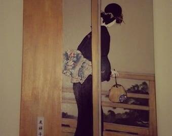 Portrait woman in kimono