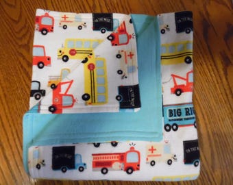 Trucks and More Trucks baby/toddler blanket