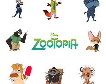 Zootopia Svg/Eps/Png/Jpg/Cliparts,Printable, Silhouette and Cricut File !!!