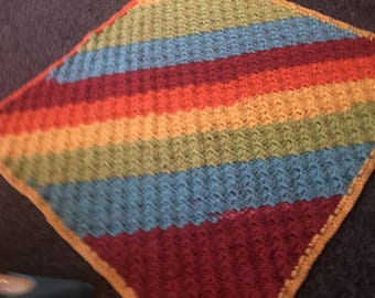 Homemade c2c rainbow blanket