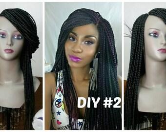 Braided side box wig