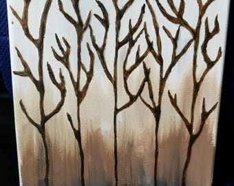 Nature painting on canvas