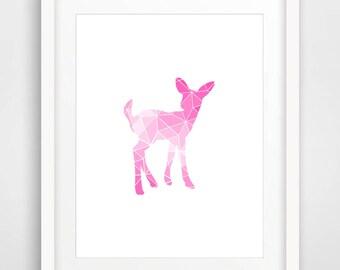 Shade, Deer, Fawn, Printable, Deer Poster , Deer Printable, Deer Kids Room