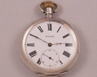 BILLODES - EARLY ZENITH 18 J Swiss Silver Pocket Watch c 1880