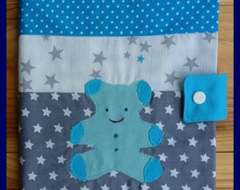 """My little blue bear"" notebook cover"