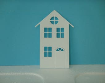 Cutting White House for scrapbooking and card