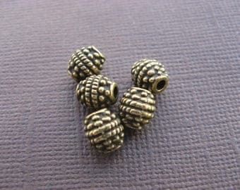 Olive bronze beads 7 mm * 10