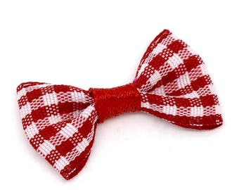 set of 20 bow tie red 30x15mm