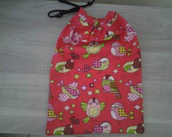 Toy bag, snack bag, pouch birds, owls