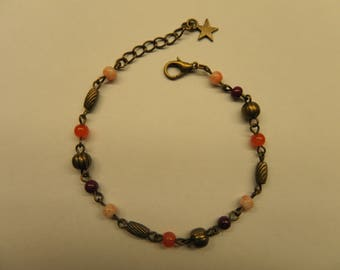 Bracelet beads and bronze metal