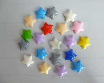 Set of 20 stars resin craft embellishment scrapbooking