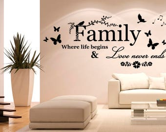Family wall sticker, family wall decal decor, family wall sticker removable vinyl family wall art [IN006]