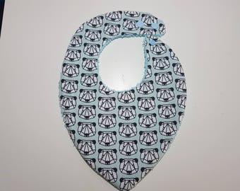 """Bavoir bandana   bleu motifs """"pandas"""""""