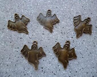 5 beautiful bronze ghost charm