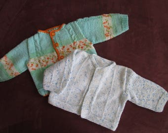 Set of two baby cardigans