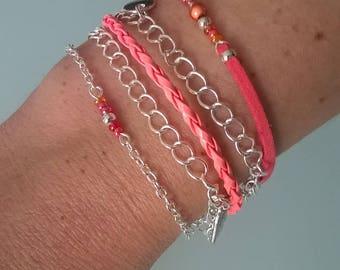 """Flowing"" MULTISTRAND bracelet"