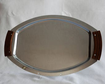 Mid Century Kromex Oval Tray