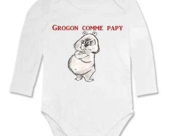 Funny grumpy as Grandpa baby Bodysuit