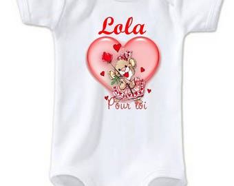 Heart Bodysuit for you personalized with name