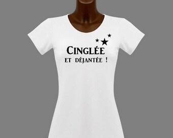 T-shirt women white humor crazy and crazy