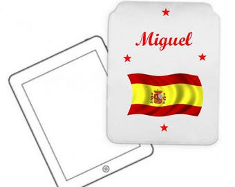 Cover for tablet pc Spain customized with name