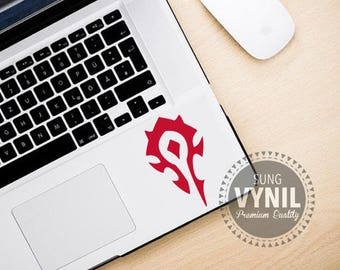 World of Warcraft, WoW Horde Decal Sticker for consoles, computers, tablets, laptops, cellphones and  car window