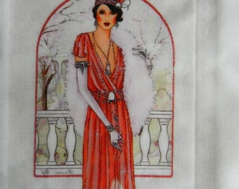 Transfer. Beautiful and elegant transfer. Beautiful lady of the roaring twenties