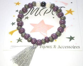 Glass bead Stretch Bracelet