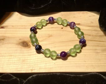 Pleasant Purples Stretch Bracelet