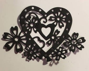 Lace hearts die cut scrapbooking