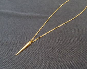 """spike"" gypsy chain gold necklace"